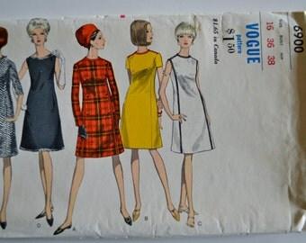 Vogue 6900 One Piece Dress Size 16 UNCUT