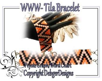 WWW Bracelet - Tila Beading Pattern Tutorial