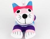 Girl Birthday Gift Handmade Sock Cheshire Cat Kitty Stuffed Animal Baby Toy