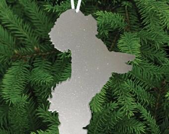 Bichon Frise Ornament or Plant Stake / Dog / Metal / Holiday / Christmas / Rusty / Decor / Tree / hanging / Dog