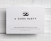 Print Your Own Sushi Party Invitation