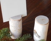10 Rustic Wedding Birch Branch Table Number Holders Wedding Decor 4 inches tall Elegant Rustic Woodland Wedding