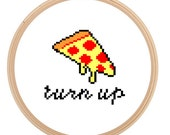 Turn up for Pizza - Cross Stitch PATTERN