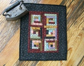 Miniature Log Cabin Wall Hanging or Table Topper (Item #41)