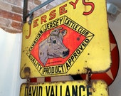 Reserved for Lyn - Final Instalment Vintage Cattle Club Sign