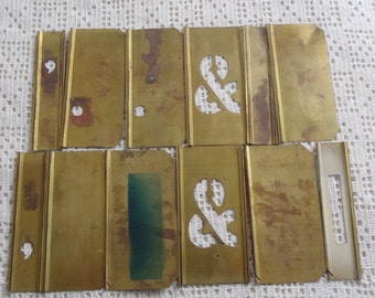 Vintage Stencils Partial Set 12 Pieces Spacers & Punctuation