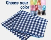 Gingham Pocket Squares - Any Color