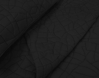cotton bedspread black abstract brick pattern quilt King size bedspread bedding coverlet  contemporary quilt ,