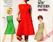 Simplicity 7824 Vintage Mod 1960s Dress Pattern