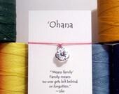 Ohana, Hibiscus Flower  Wish Bracelet