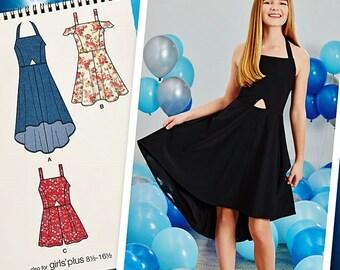 Tween Girls' Special Occasion Dress Pattern, Girls' Dress Pattern, Simplicity Sewing Pattern 1123