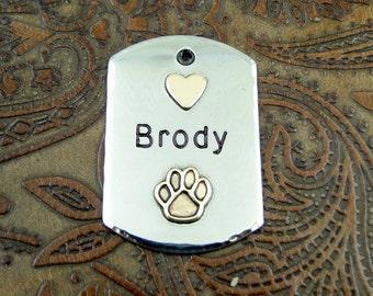 Custom Dog ID Tag, Brody Dog Tag, Handmade Pet ID Tag, Dog Tag for Dogs
