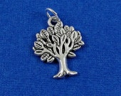 Tree of Life Charm - Silver Plated Tree of Life Charm for Necklace or Bracelet