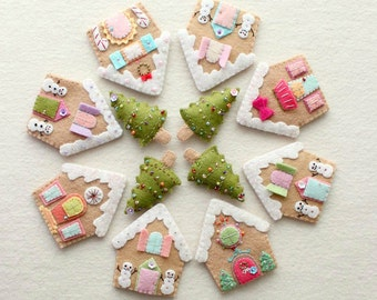 GIFT of the DAY - Gingerbread Houses - Instant Download pdf Pattern