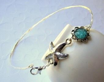 Starfish Stacking Ankle Bangle Bracelet