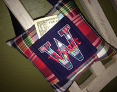 Preppy Plaid Personalized Tooth Fairy Pillow