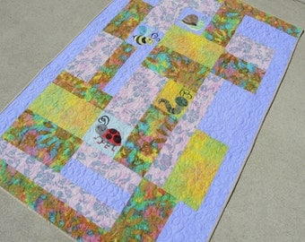Crib Size Quilt, Baby Quilt, Bedding, Blankets & Throws, Home and Living