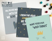 More Wild Things Instant Download Poster - From Far Away Poster ONLY