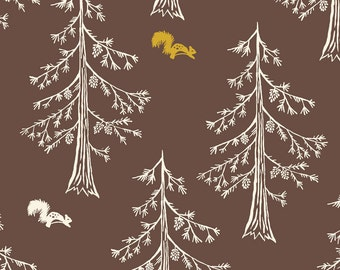 Organic Cotton Fabric- Monaluna- Westwood- TALL PINES - low shipping