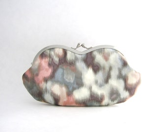 SALE Sunglasses case - Eyeglasses Case - Frame Clutch Purse - Watercolor Pastel