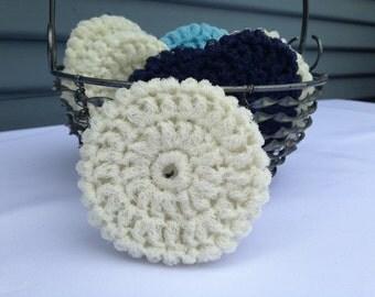 Nylon Dish Scrubbie - Winter White