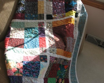Quilted Bed Runner Toe Warmer or Rustic Patchwork Sofa Lap Throw