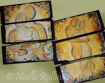Romantic Couple Pallet print - choice of prints - 9x11 on reclaimed pallet wood