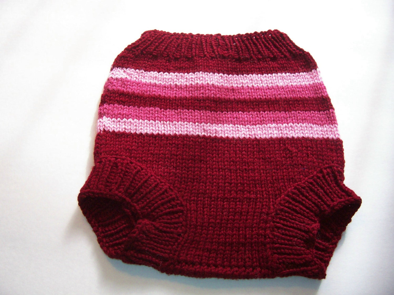 Hand Knitted Wool Diaper Cover Knit Cloth by SrechaHandknits