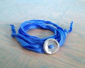 Athletic Jewelry, Adjustable Bracelet, Fiber Bracelet, Silk Ribbon, Wrap Bracelet, Active Wear Bracelet, Yoga Bracelet, #6-002