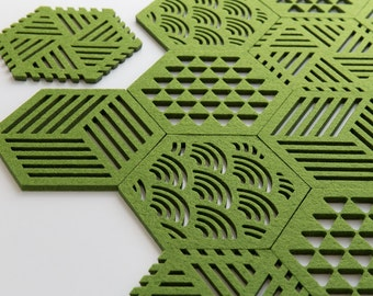 Hexagon Coasters Wave