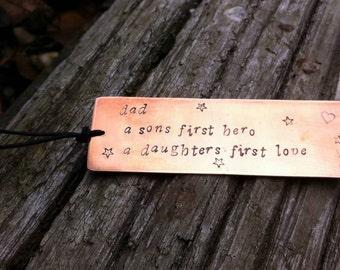 Handmade Copper Personalised Bookmark