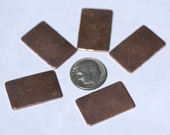 Rectangle 25mm x 16mm Blank Cutout Shape  for Enameling Stamping Texturing Blanks