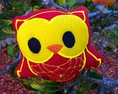 Owl Plush Toy - Cute Woodland Owl Stuffed Toy - Kawaii Owl Plushie - Owl Soft Toy - Baby Safe Toy