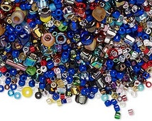 Seed bead mix, Matsuno® and Miyuki, glass, mixed colors, #8 / #11 / #15 round. Sold per 50-gram pkg, approximately 5,500 beads