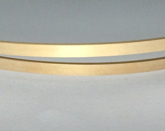 1 ozt 14kt gold fill flat stock, flat wire, rectangle wire, sizing stock, bracelet blank, wire supplies