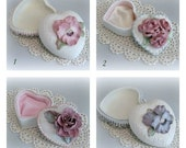 Shabby Chic Box Heart Box Jewelry Box Decor Jewelry Trinket Box Ring Box Clay Flower Box Clay Floral Box Decorative Box Ceramic Box Gift Her