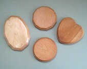 Craft Wood Plaques Natural Wood Shapes Pine Wood Hearts Wooden Plaques Unfinished Wood Rounds Wood Circles Craft Plaques Small Oval Beveled
