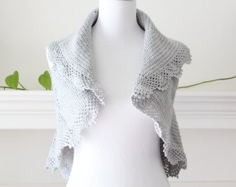 Crocheted Silver Vest or Sweater