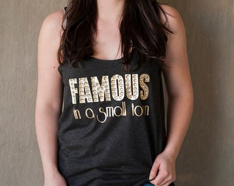 famous in a small town marquee tank beautiful crystal marquee letters southern small town super bling tank