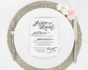 Wedding Dinner Menus - Ravishing Script - Deposit