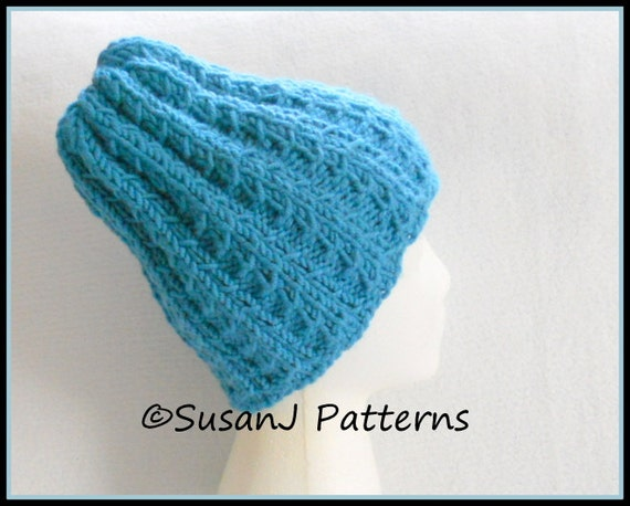Instant download Knitting Pattern Picket Fence Hat