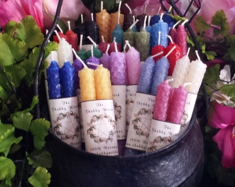 2 Beeswax candles, Beeswax Candles, Chime candles, Spell Candle