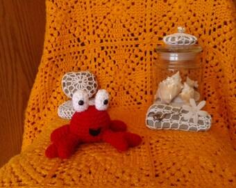 Happy Crochet Crab