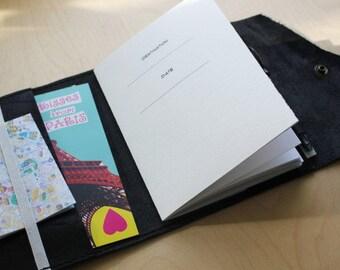 Travel journal leather refillable portfolio