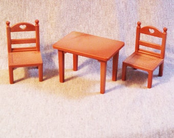 Vintage Maple Town Table and Chairs