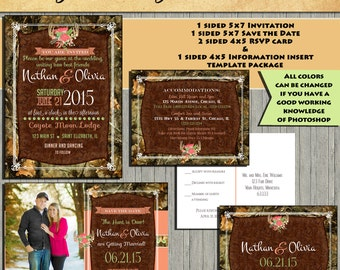 Camo save the date | Etsy