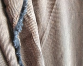 Brown Tan Neutral Pinstripe Rayon Vintage Fabric Yardage