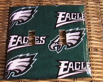 Eagles Steelers Buccaneers Cowboys  Double Toggle Light Switch Plate Cover