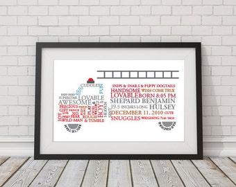 Custom Firetruck Word Art