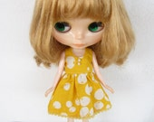 Yellow Balloons Dress for Blythe doll